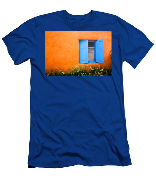 Men's T-Shirt (Slim Fit) featuring the photograph Taos Window IIi by Lanita Williams