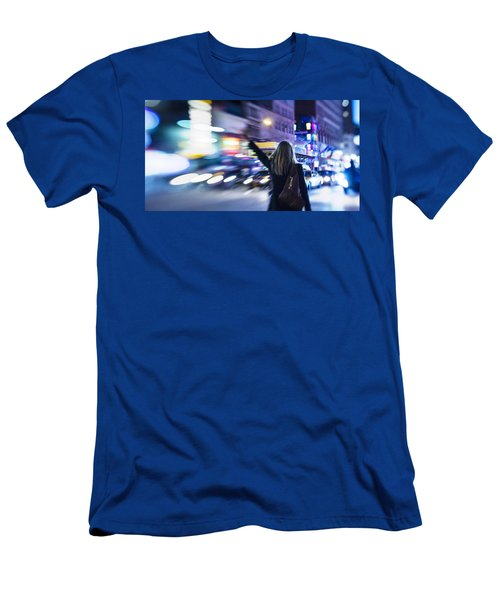 Taxi's Hunting In Manhattan Men's T-Shirt (Athletic Fit)