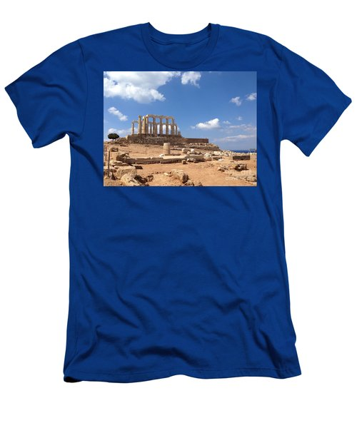Temple Of Poseidon Men's T-Shirt (Athletic Fit)