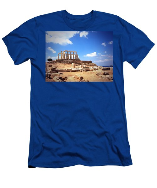 Temple Of Poseidon Vignette Men's T-Shirt (Athletic Fit)