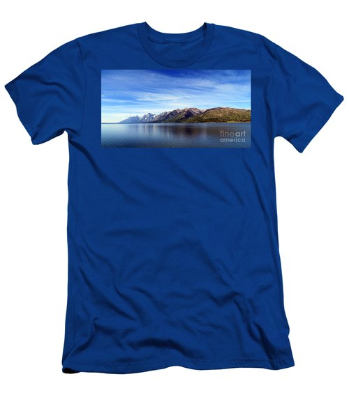 Tetons By The Lake Men's T-Shirt (Athletic Fit)