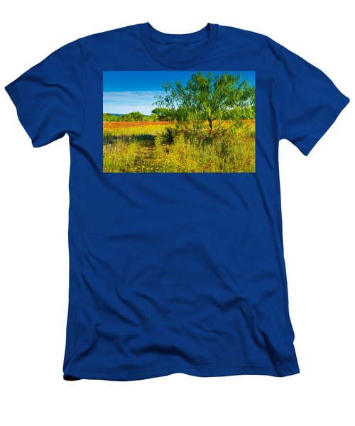 Texas Hill Country Wildflowers Men's T-Shirt (Athletic Fit)