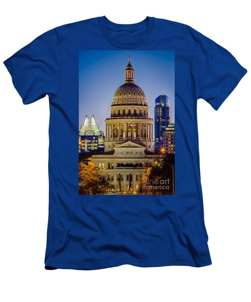 Texas State Capitol By Night Men's T-Shirt (Athletic Fit)
