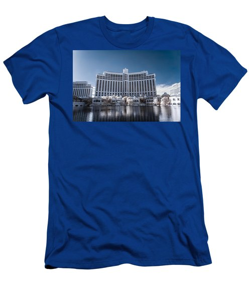 The Bellagio Hotel And Casino In Infrared Men's T-Shirt (Athletic Fit)