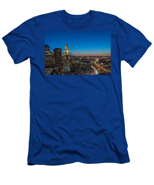 The Blue Begins Men's T-Shirt (Athletic Fit)