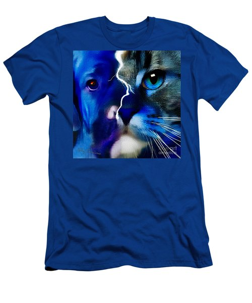 Men's T-Shirt (Athletic Fit) featuring the digital art We All Connect by Kathy Tarochione