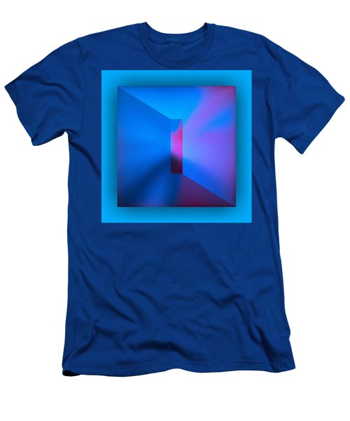 Men's T-Shirt (Athletic Fit) featuring the digital art The Focus - Blue by Mihaela Stancu