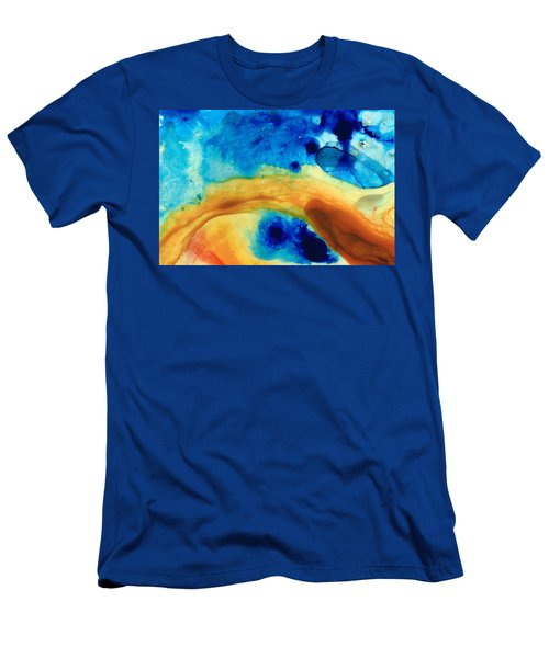 The Golden Gate - Abstract Art By Sharon Cummings Men's T-Shirt (Athletic Fit)