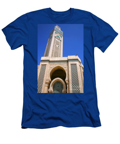 The Hassan II Mosque Grand Mosque With The Worlds Tallest 210m Minaret Sour Jdid Casablanca Morocco Men's T-Shirt (Athletic Fit)