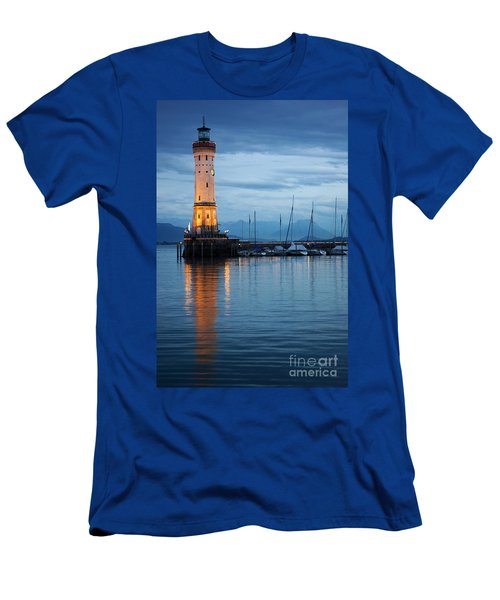 The Lighthouse Of Lindau By Night Men's T-Shirt (Athletic Fit)