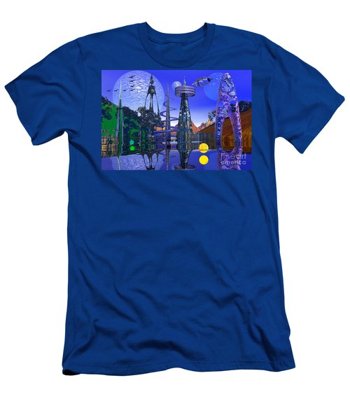 Men's T-Shirt (Slim Fit) featuring the photograph The Mechanical Wonder by Mark Blauhoefer