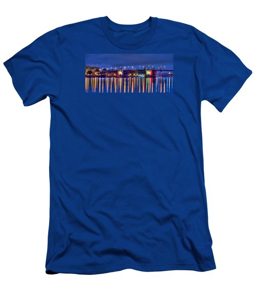 Men's T-Shirt (Slim Fit) featuring the photograph Morrison Bridge - Pdx  by Thom Zehrfeld