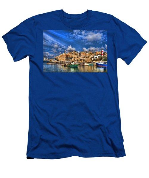 the old Jaffa port Men's T-Shirt (Slim Fit) by Ron Shoshani