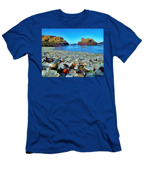 Glass Beach In Cali Men's T-Shirt (Athletic Fit)