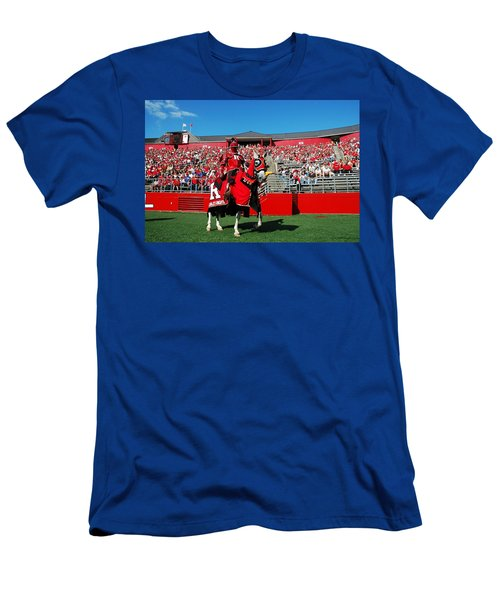 The Scarlet Knight And His Noble Steed Men's T-Shirt (Slim Fit) by Allen Beatty