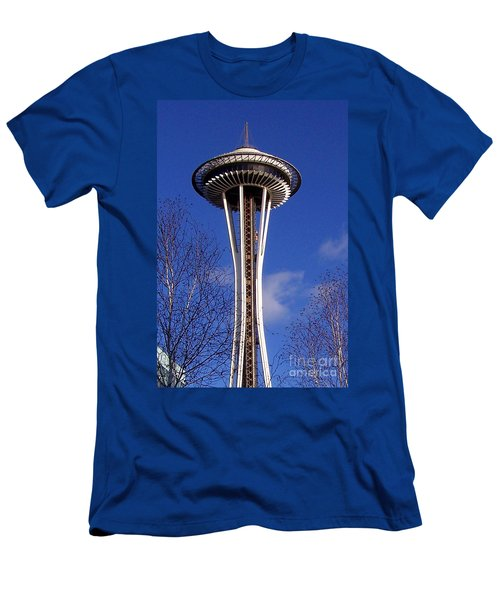 Men's T-Shirt (Slim Fit) featuring the photograph The Symbol Of Seattle by Kathy  White