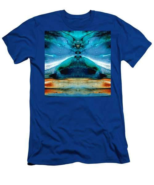 The Time Traveler - Surreal Fantasy Art By Sharon Cummings Men's T-Shirt (Athletic Fit)