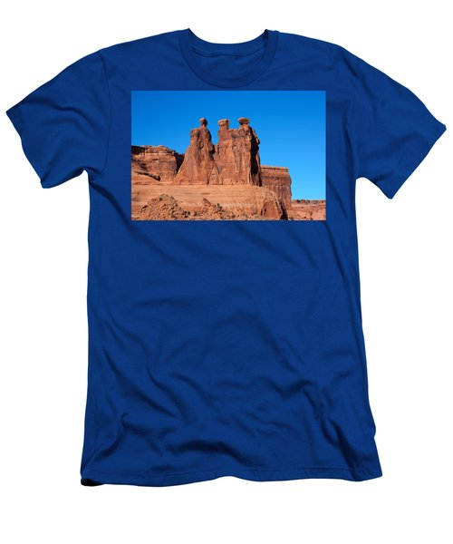 Men's T-Shirt (Slim Fit) featuring the photograph The Watchers by John M Bailey