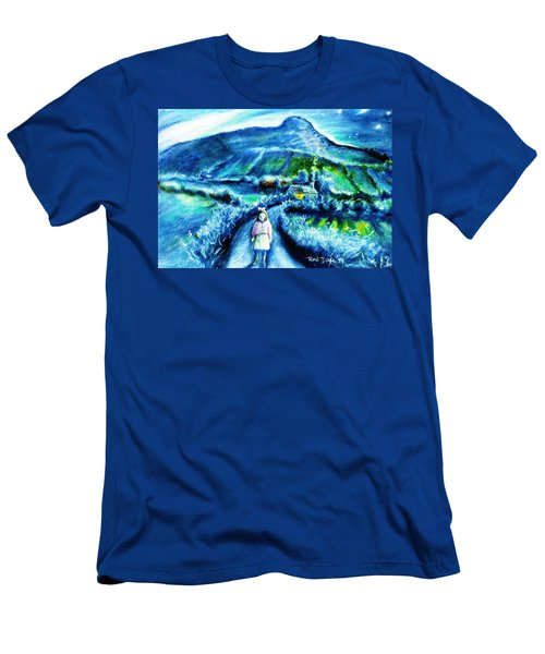 The White Ribbon - Eagle Hill  Men's T-Shirt (Slim Fit) by Trudi Doyle
