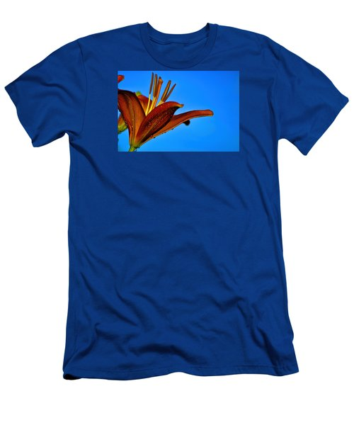 Thirsty Lily In Hdr Art  Men's T-Shirt (Athletic Fit)
