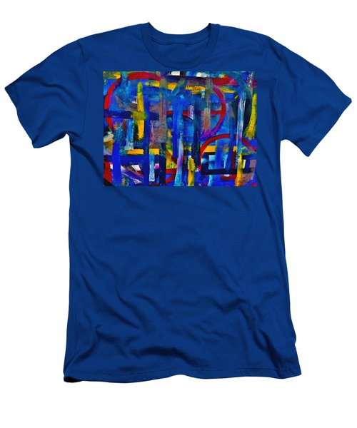 Men's T-Shirt (Slim Fit) featuring the painting Anchored In Art by Lisa Kaiser
