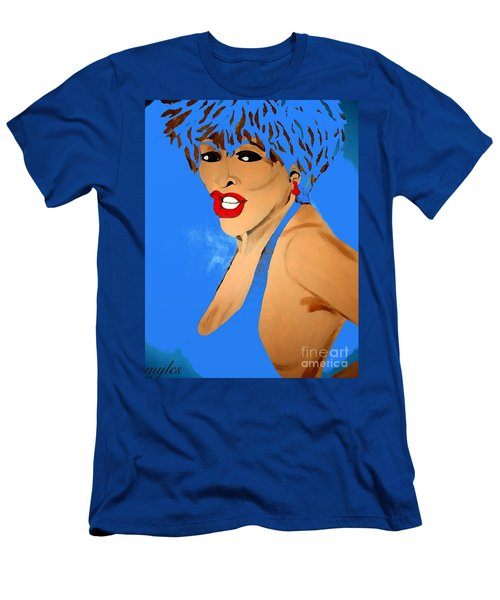 Tina Turner Fierce Blue 2 Men's T-Shirt (Athletic Fit)