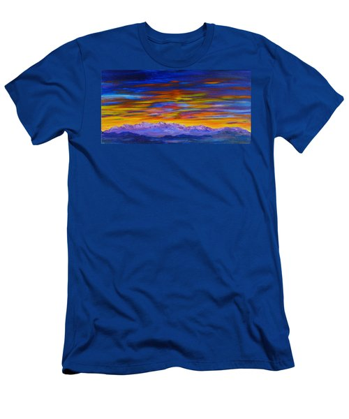 Tobacco Root Mountains Sunset Men's T-Shirt (Athletic Fit)