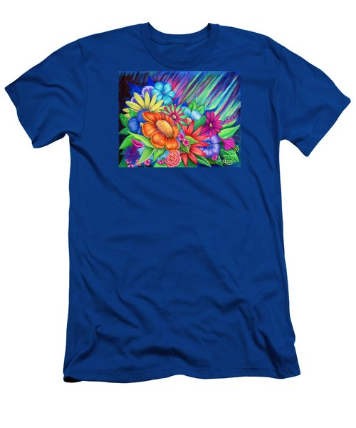 Men's T-Shirt (Athletic Fit) featuring the painting Toward The Light by Nancy Cupp