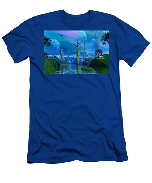 Tower Of Hurn Men's T-Shirt (Slim Fit) by Mark Blauhoefer