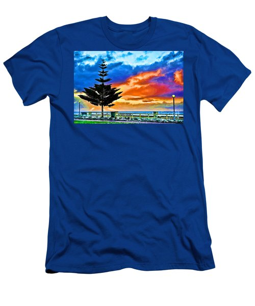 Tree And Sunset Men's T-Shirt (Athletic Fit)