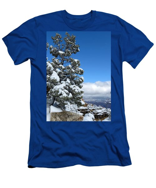 Men's T-Shirt (Slim Fit) featuring the photograph Tree At The Grand Canyon by Laurel Powell