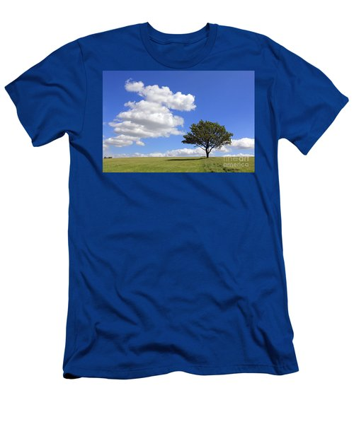 Tree With Clouds Men's T-Shirt (Athletic Fit)