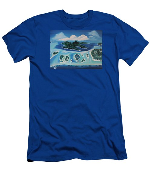 Tropical Skies Men's T-Shirt (Slim Fit) by Dianna Lewis