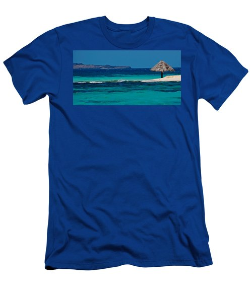 Men's T-Shirt (Slim Fit) featuring the photograph Tropical Umbrella by Don Schwartz