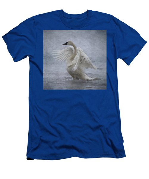Trumpeter Swan - Misty Display Men's T-Shirt (Athletic Fit)