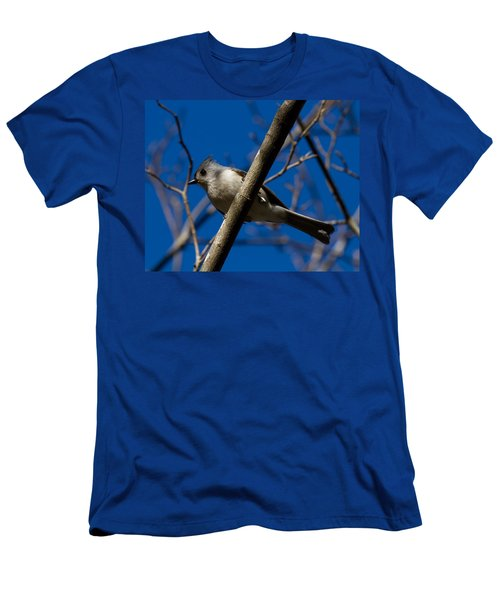 Men's T-Shirt (Slim Fit) featuring the photograph Tufted Titmouse by Robert L Jackson