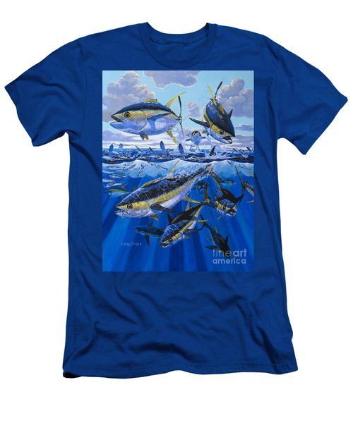 Tuna Rampage Off0018 Men's T-Shirt (Slim Fit) by Carey Chen