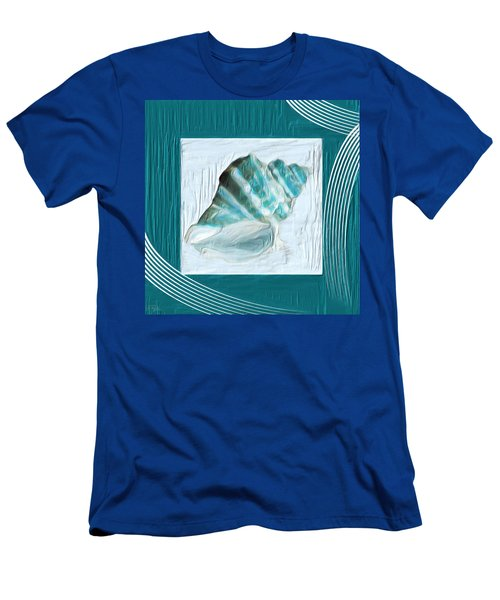Turquoise Seashells Xxii Men's T-Shirt (Athletic Fit)