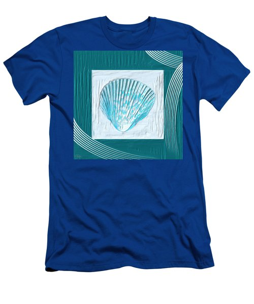 Turquoise Seashells Xxiii Men's T-Shirt (Athletic Fit)