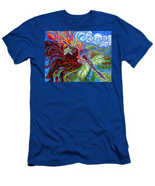 Two Dragonflies Men's T-Shirt (Athletic Fit)