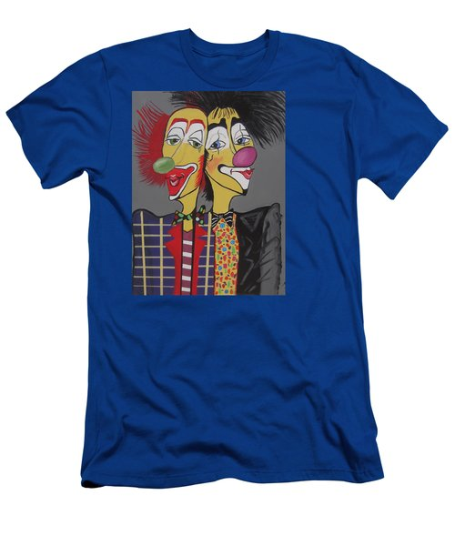 Men's T-Shirt (Slim Fit) featuring the painting Two Heads Are Better Then One by Nora Shepley