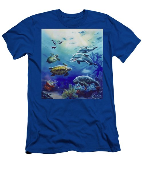 Under Water Antics Men's T-Shirt (Athletic Fit)