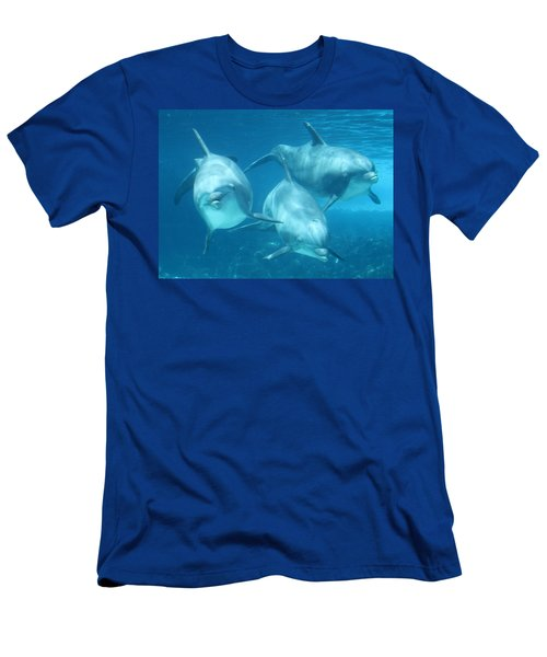 Underwater Dolphin Encounter Men's T-Shirt (Athletic Fit)