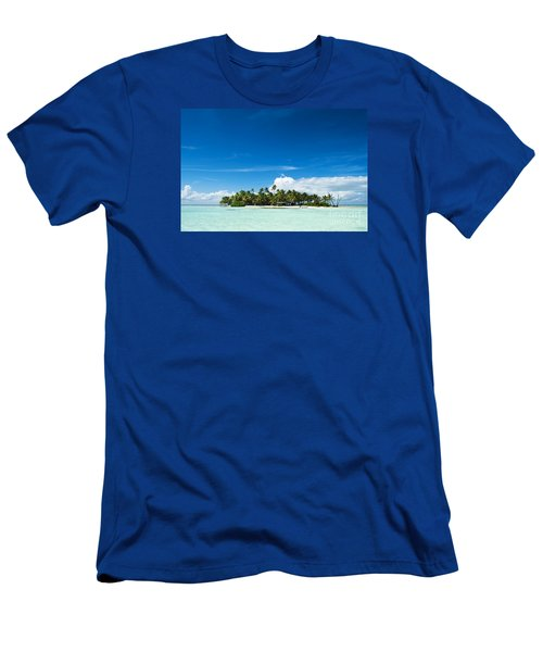 Uninhabited Island In The Pacific Men's T-Shirt (Slim Fit) by IPics Photography
