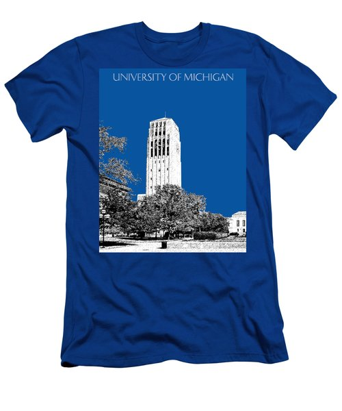 University Of Michigan - Royal Blue Men's T-Shirt (Athletic Fit)