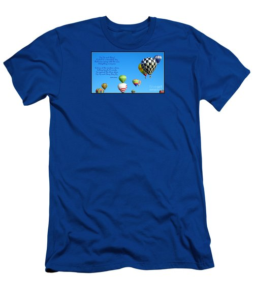 Up Up And Away Poetry Photography Men's T-Shirt (Athletic Fit)