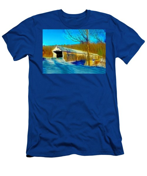 Vermont Covered Bridge Men's T-Shirt (Athletic Fit)