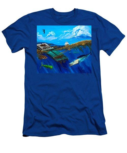 Wahoo Under Board Men's T-Shirt (Slim Fit) by Steve Ozment