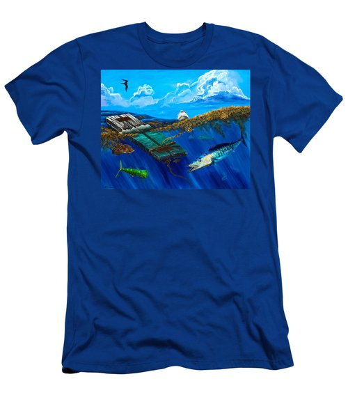 Wahoo Under Board Men's T-Shirt (Athletic Fit)