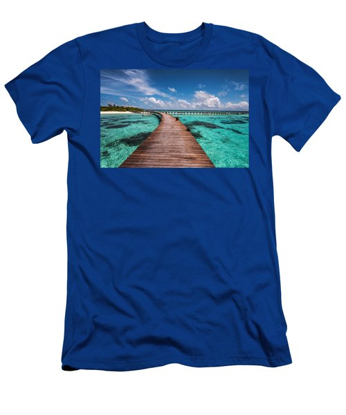 Walk Over The Water Men's T-Shirt (Slim Fit) by Jenny Rainbow